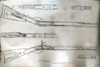 19200 - Jacob Dickert Rifle plan drawing  - Books-Videos-Drawings