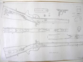 19220 - German Jaeger Flintlock Rifle Plan - Books-Videos-Drawings
