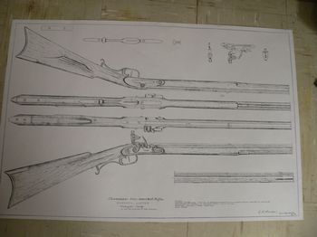 19950 - Zacharia Luster Tennessee rifle plan drawing - Books-Videos-Drawings