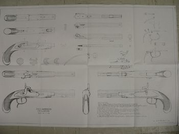 31420 - Hawken Pistol plan or drawing - Books-Videos-Drawings