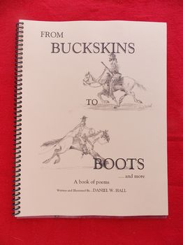 BOOK4-BB - From Buckskins to Boots book of poems by Daniel W. Hall - Books-Videos-Drawings